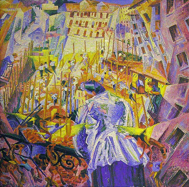 Umberto Boccioni,1911, La rue entre dans la maison