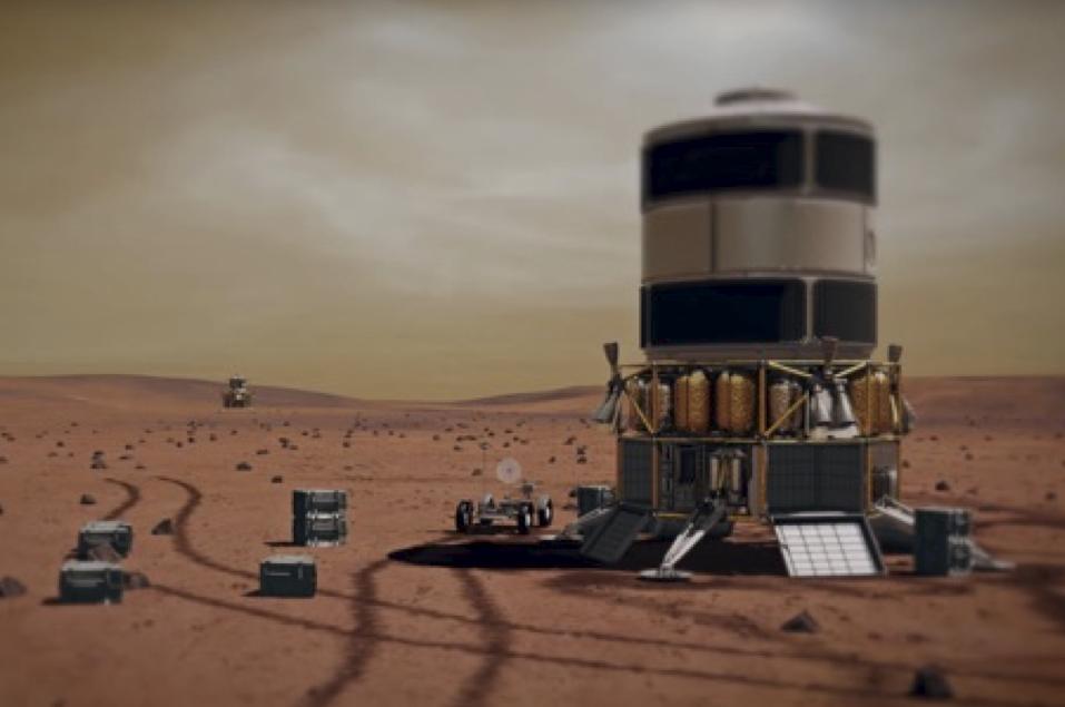 Le débarquement sur Mars, (document Boeing)