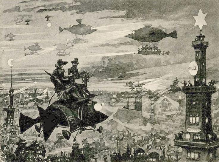 Paris demain vu par Albert Robida, 1883
